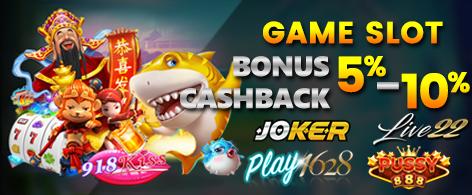 Promo Cashback Agen Slot Terbaik